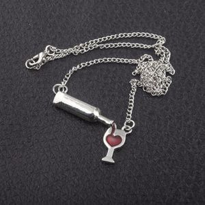 Wine & Heart Necklace